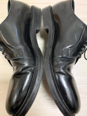 革靴のヒビ割れ