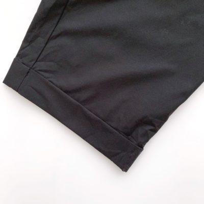 ダブル仕上げの裾