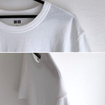 細いハンガーで干したTシャツ