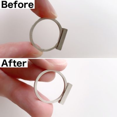 指輪の掃除のビフォーアフター