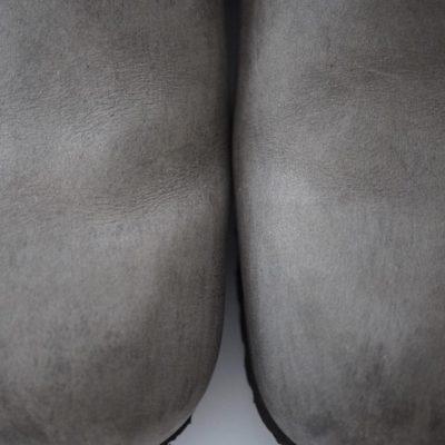 オイルドアイロンの履き皺