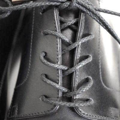 靴紐の通し方、オーバーラップ