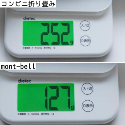 折り畳み傘の重量比較