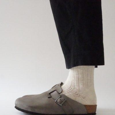 ベージュ靴下の着画