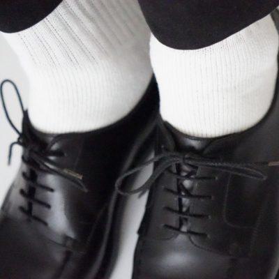 wigwamの靴下を革靴に合わせる