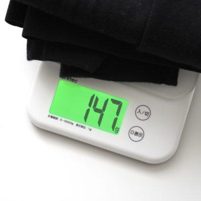 メリノウールタイツの重量