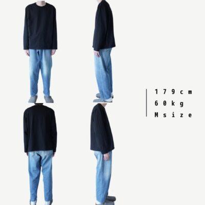 黒いロンTの着画