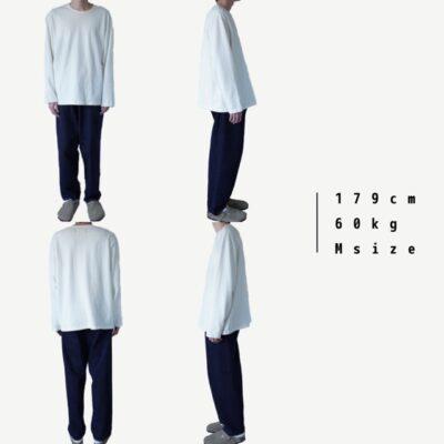 白いロンTの着画