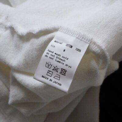 YOKO SAKAMOTO 白の洗濯タグ