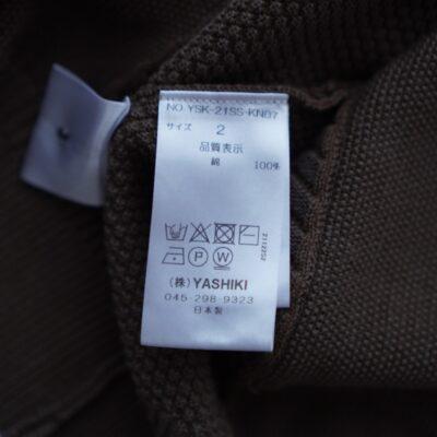 YASHIKIニットの洗濯タグ