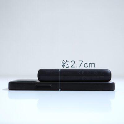 MagsafeモバイルバッテリーとiPhone12mini合わせた厚み
