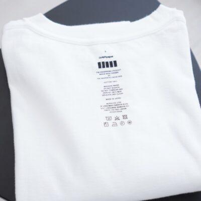 Tシャツは裏返しで畳み保管