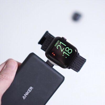 AnkerのモバイルバッテリーでAppleWatchを充電