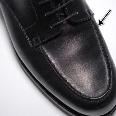 革靴の履き皺