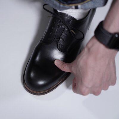 革靴のシワ入れに目処を立てる