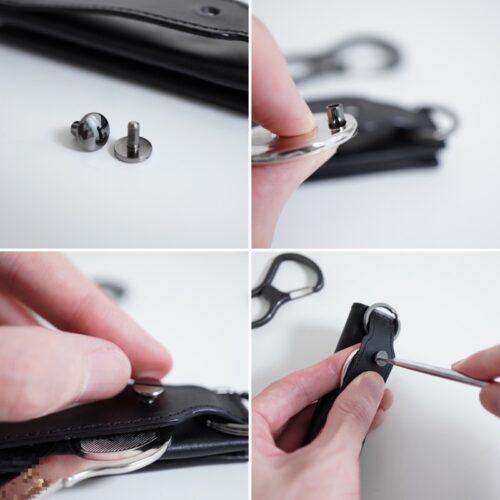 ネジを外して、鍵を装着