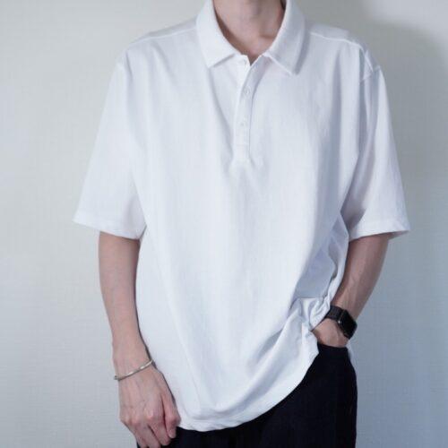 ATONポロシャツの着画1