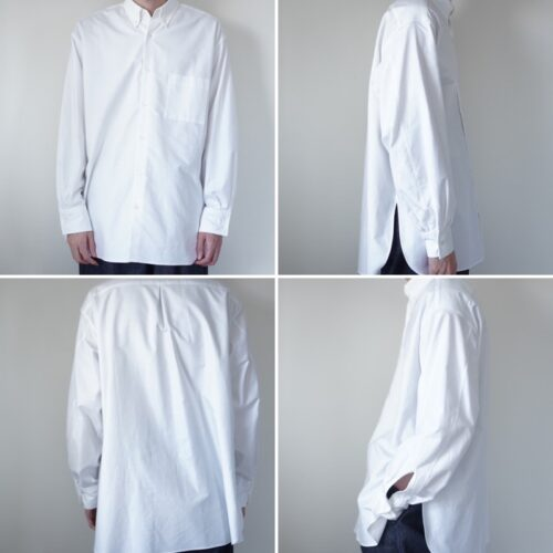 MARKAWAREのシャツの着画