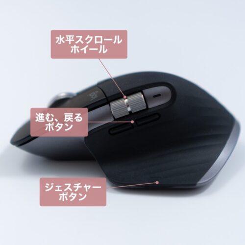 MX Master 3 for Macの横ボタンの注釈