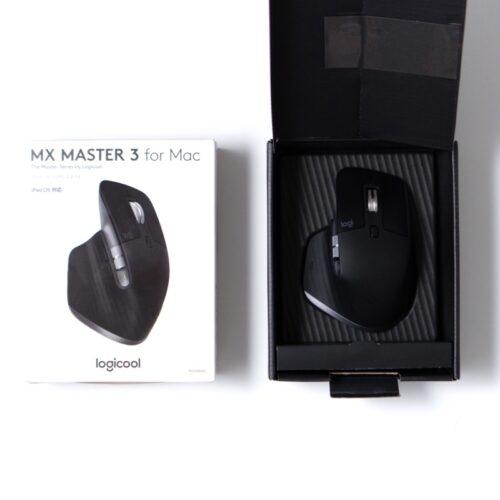 MX Master 3 for MACの箱と本体の画像